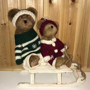 BOYDS ALBIN & TOOTIE WHIZZALONG PLUSH BEAR SET